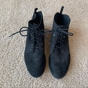 Sam Edelman Black Suede Oxford Booties